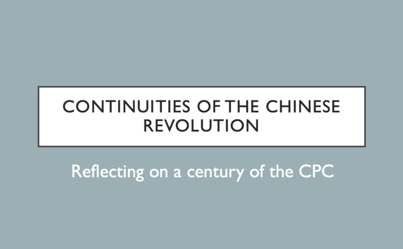 Explainer: on the continuities of the Chinese Revolution